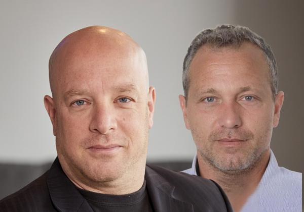 """מימין: טל ויזר, סמנכ''ל מכירות תשלומים בפינסטרה, ואוהד חנקין, סמנכ''ל מוצר ואסטרטגיה בחברה. צילומים: יח""""צ"""