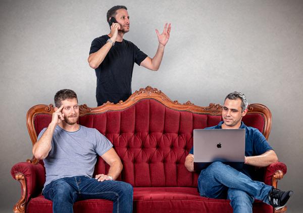 מייסדי דוקונטרול. מימין: ליאל רן, עמרי וינברג אדם גביש. צילום: אורלי אייל