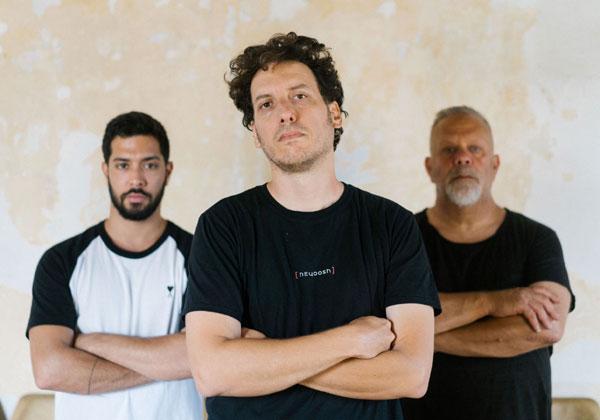 האנשים שמאחורי היוש: מימין - רן שמואלי, ניסן בכר ומאור גיל. צילום: אלכסיי קודריק