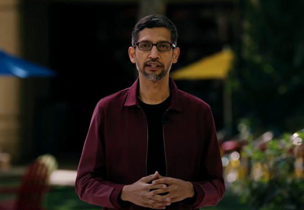 """""""כמה טוב לחזור ל-Google I/O"""". מנכ""""ל גוגל, סונדאר פיצ'אי, מציג את החידושים. צילום מסך"""