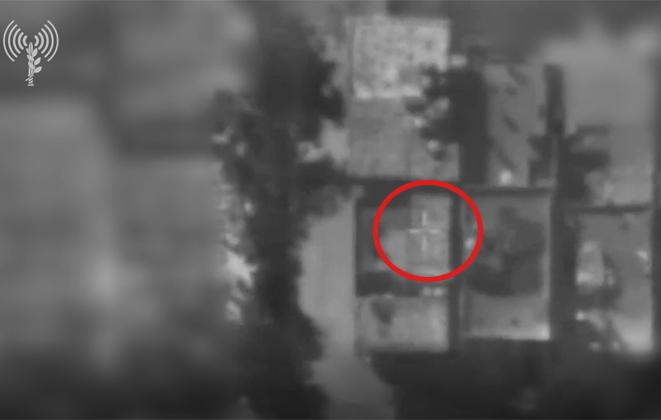 """תקיפת אתר של מחלקת הסייבר במודיעין הצבאי של חמאס. צילום: דובר צה""""ל"""