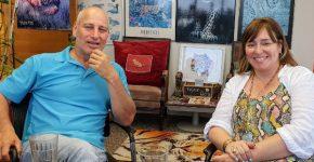 """זוהר שיינין, מייסדת משותפת ומנר""""רית (CRO), וארי גולדפרב, מנכ""""ל, חברת קנדו. צילום: פלי הנמר"""