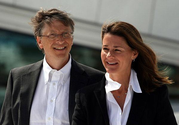 מלינדה וביל גייטס בימים טובים יותר. צילום: קג'טיל רי, מתוך ויקיפדיה