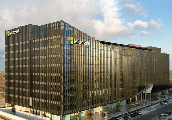 """הבניין החדש של מרכז המו""""פ של מיקרוסופט בהרצליה. צילום: עמית גירון"""