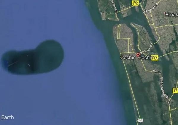 האי שהתגלה בתמונת הלוויין של מפות גוגל