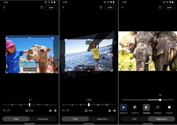 עריכה של תמונות ישירות ב-OneDrive. צילום: מיקרוסופט