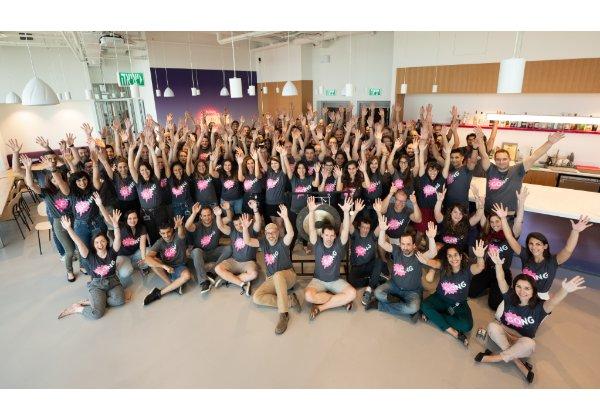 צוות העובדים של גונג במרכז הפיתוח בישראל. צילום: רמי זרנגר
