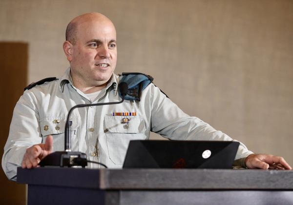 """תא""""ל עומר דגן, מפקד יחידת לוטם שבאגף התקשוב וההגנה בסייבר בצה''ל. צילום: ניב קנטור"""