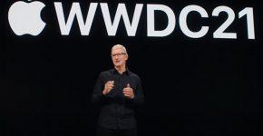 """פותח את ועידת המפתחים. טים קוק, מנכ""""ל אפל. צילום מסך"""