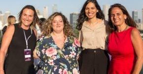 """מנכ""""ליות פרזנטנס עם שגית למפרט מסיטיבנק, ושרון לנדס, מנכ""""לית עיר עולם ותיירות בעיריית תל-אביב-יפו. צילום: עדי שרגא"""