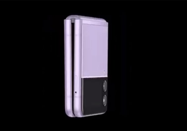 בסגול. ה-ה-Z Flip 3 הצפוי של סמסונג לפי ההדלפות. צילום: טוויטר