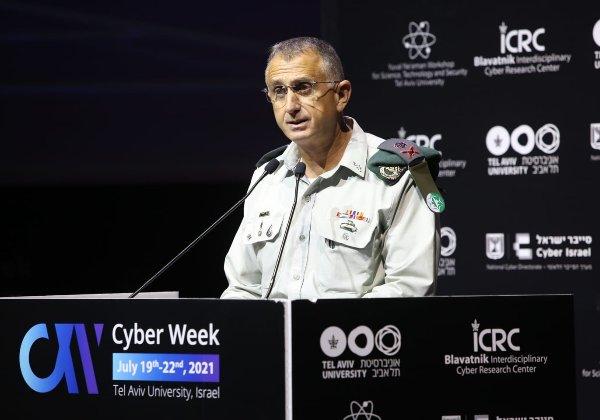 """קיבל את הפרס בשם צה""""ל. האלוף תמיר הימן, ראש אגף מודיעין. צילום: חן גלילי"""