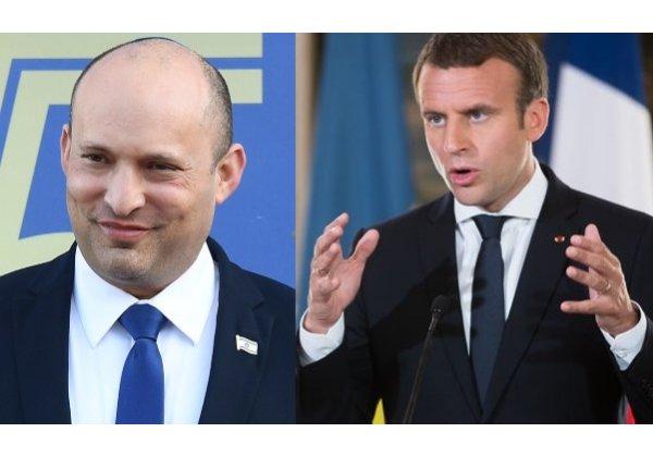 שוחחו על NSO. עמנואל מקרון, נשיא צרפת. צילום: BigStock; נפתלי בנט, ראש ממשלת ישראל. צילום: ויקיפדיה
