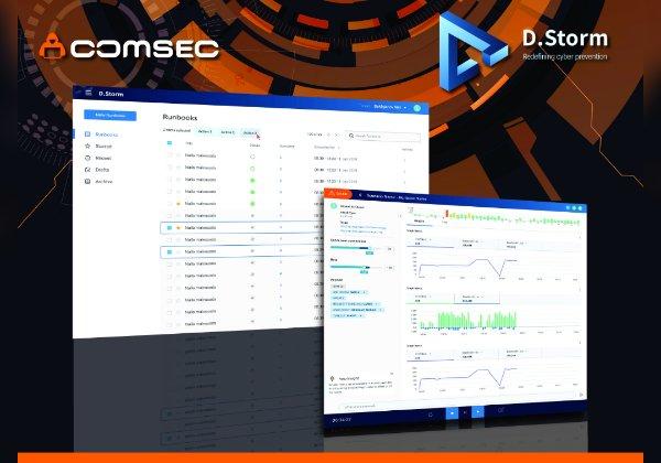 "D.Storm, פלטפורמה לסימולציות DDoS מבית קומסק. צילום: יח""צ"