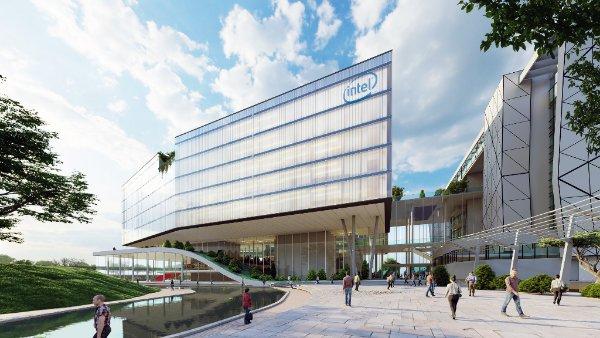 הדמייה לבניין אינטל. מקור: אדריכל מושלי דגן וסטודיו ורד גינדי אדריכלות פנים