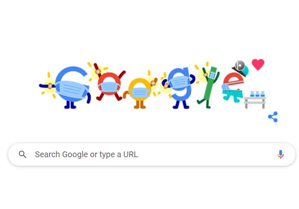 """הדודל ה-""""מתחסן"""" של גוגל. צילום מסך"""