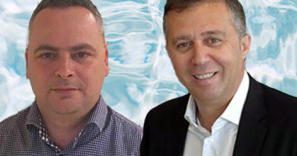 """מימין: יורם אלול, מנהל פעילות BMC ישראל ומזרח אירופה. צילום: אסף ספקטור. משמאל: רונן שוורץ, מנהל אגף BMC במטריקס. צילום: יח""""צ"""